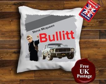 Bullitt Steve McQueen Cushion Cover, Bullitt Movie Cushion, Steve McQueen Cushion,