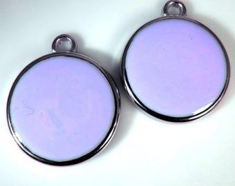 Purple pendants etsy 6 vintage 22mm lavender purple pendants charms drops pd845 mozeypictures Images