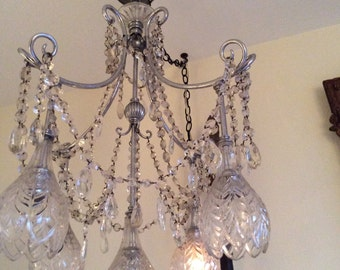 rare LOTUS FLOWER CHANDELIER