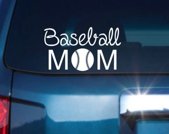 Baseball Mom Car Decal, Baseball Mom Vinyl Car Decal, Vinyl Car Decal, Car Decal, Sports Car Decal, Laptop Decal, Window Decal, Vinyl Decal