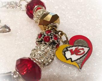 KANSAS CITY CHIEFS Inspired Bracelets Jewelry