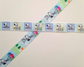 Snoopy Peanuts Woodstock pretty pastel balloons play and dream cute kawaii kitsch grosgrain ribbon