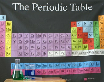 Periodic Table (Dark) Chemistry Science Cotton Fabric (1 Yard Panel)