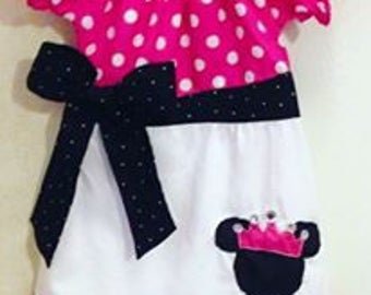 Custom Boutique Pink Minnie Mouse dress
