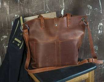 Leather tote,Leather shopper tote bag,Large tote bags for women,Messenger bag leather gift,Leather Handbags,Leather gift tote bag her
