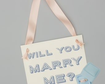 Will You Marry Me? Proposal Sign | Engagement Banner Handmade in USA | Creative Ways to Propose to Girlfriend | 1465 BW