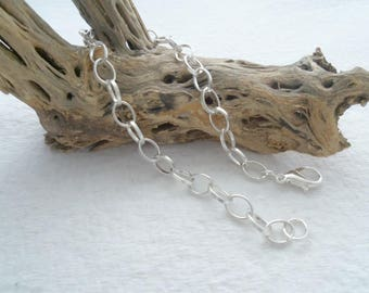 8 1/4 inch (21 cm) Large Loop Cable Chain Bracelet with Lobster Clasp (2131)
