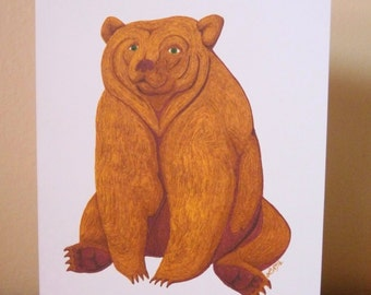 Art Notecard 5 x 7 inches - I Could Use A Brownie