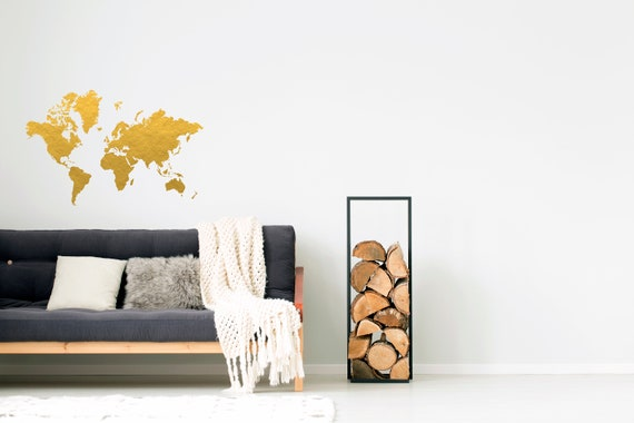 Gold world map wall decal gold office decor bedroom wall gold world map wall decal gold office decor bedroom wall decal office decor gold map copper decor gold foil decor world map gumiabroncs Choice Image
