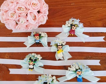Customised corsages and boutonnieres