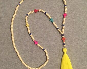 Edith tassel necklace