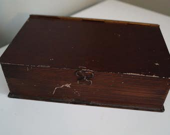 Antique Tin Box Painted to look like a Book