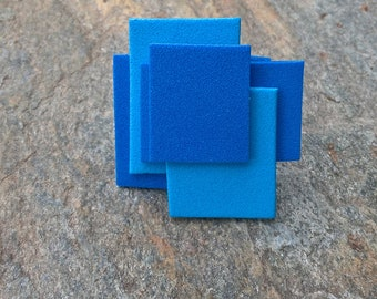 Blue and blue rubber ring