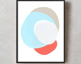 Abstract Art Print, Printable Wall Art, Wall Art, Digital Download, Screenprint, Minimal, Geometric, Modern, Scandinavian, Modern Wall Art