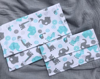 Flannel diaper and wipes pouch