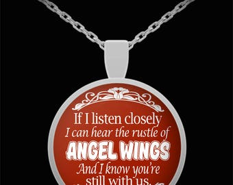 Husband in heaven necklace - Widow necklace - I Know You're Still With Us Necklace - Gift idea