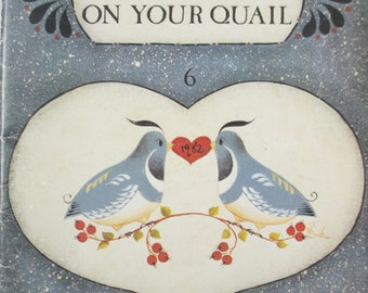 """Vintage Decorative used painting book """"There's Paint on your Quail"""" tole painting by Milly Smith 50 pages"""