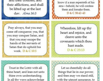 PONDERIZE 52 verses INSTANT DOWNLOAD Printable --one year of scriptures to memorize / personal, missionary, family...