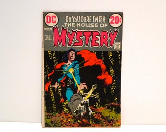 Mystery Comic Book Feb 1973 No 211 Vintage DC Comics The House of Mystery Wrightson Deliver Us From Evil Wolfman Horror Gothic Sci Fi 70s