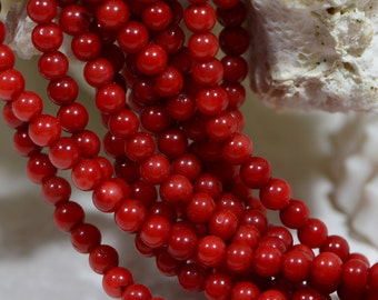 Red Coral Beads 2mm Red Coral Beads Gemstone Beads Jewelry Making Supplies