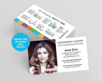 Rodan and Fields Business Cards, R and F Cards, RF, Rodan Business Card, Marketing, Branding, Printable, Digital