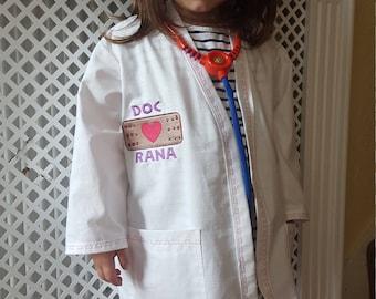 Personalised Doc Mc stuffins Inspired Lab Coat Costume aged 2-8