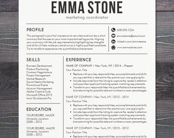 resume template cv template for word mac pages professional resume design free - Professional Marketing Resume