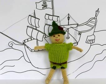 Peter Pan Knitting Pattern: Knit a Peter Pan Doll