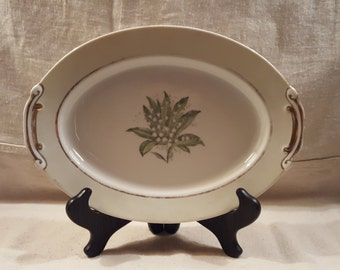 Small Antique Platter- Craftsman China Lilly of the Valley