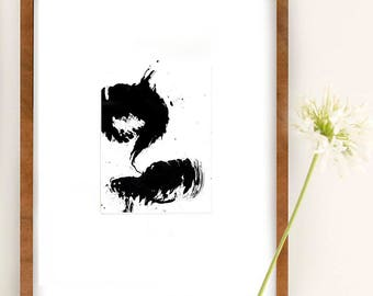 Storm, abstract ink art painting, modern art, nature art, abstract black white art, explosion art, minimalist art, art, abstract, ink art