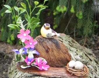Yellow Bird and Nest