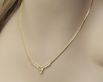 Rhinestone necklace,Mother's Day necklace,Rhinestone and gold necklace,wedding necklace,bridal necklace,rhinestone bridal necklace,bling