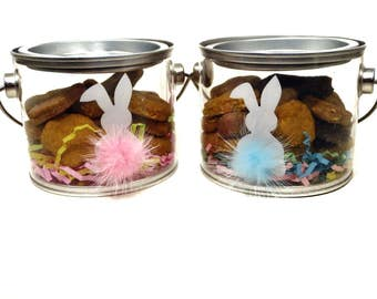 Easter Gourmet Dog Treats - Bunny Easter Pail - Vegetarian All Natural Gift Boxed Easter - Shorty's Gourmet Treats