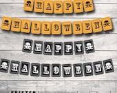Halloween Banner, Halloween Bunting, Instant Download, Printable Template, Printable Banner, Printable Bunting, DIY Bunting, DIY Banner