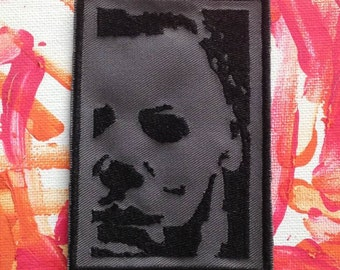 Michael Myers patch Halloween movie horror gift, slasher film cult classic John Carpenter Halloween Resurrection Halloween H2O gift under 10