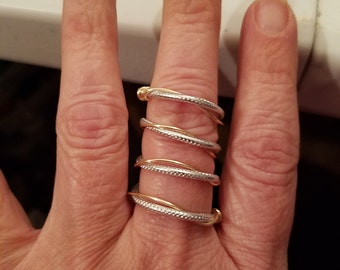 Two toned twisted ring