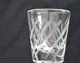 Cut glass shot glass