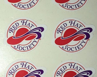 """RED HAT SOCIETY - """"The Original Red Hat Society"""" authentic sticker"""