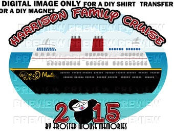 Printable Disney Cruise Family Shirt Transfer or Magnet - DIY Disney Cruise Shirts - Family Cabin Door Magnet - Cruise Magnet - Cruise Shirt