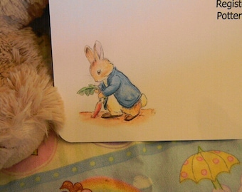 Baby Shower Invitations - Peter Rabbit and his carrot