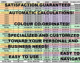 Customized Spreadsheets for your Personal and Business Needs!
