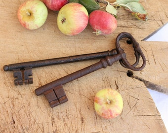 French vintage keys - set of two