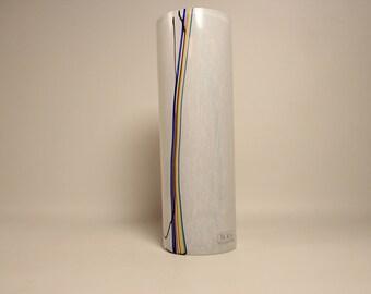 Glass vase Rainbow Kosta Boda Bertil Vallien Sweden Signed
