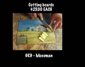 Glass Art Cutting Board