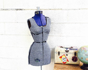 DRESS FORM | Vintage Dressmaker Dummy | Adjustable Sewing Mannequin | Industrial Store Display | Photography Prop | Quality Queen Size A |