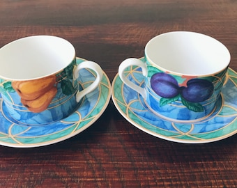 Victoria & Beale Forbidden Fruit Cup and Saucer Set (Set of 2)