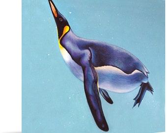 Underwater Flight Original Acrylic Painting