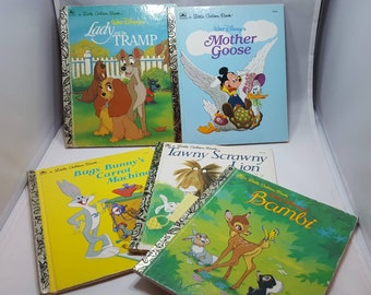 FREE SHIPPING** Set Of 5 Little Golden Books **VINTAGE