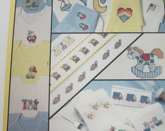 """Cross Stitch Pattern Leaflet """"It's a Boy"""" designs for Babies used 1990"""