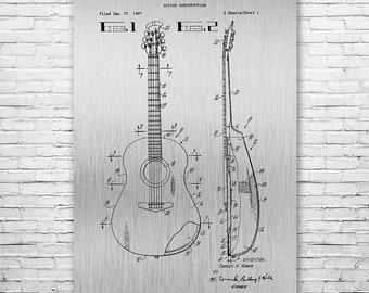 Acoustic Guitar Poster Art Print, Guitar Art, Music Art, Guitarist, Musician, Music Teacher, Music Gift, Musician Gift, Music Wall Art